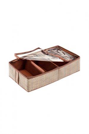 Органайзер для обуви, 4 ячейки CASY HOME. Цвет: коричневый