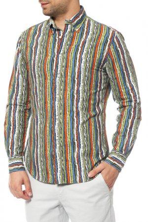 Рубашка GITMAN VINTAGE. Цвет: зеленый