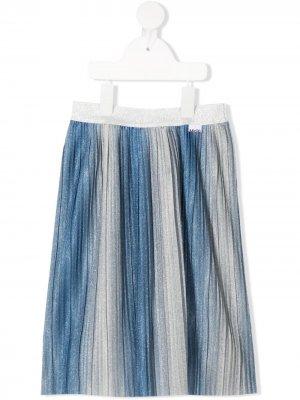 Плиссированная юбка Bailini с эффектом металлик Molo. Цвет: синий