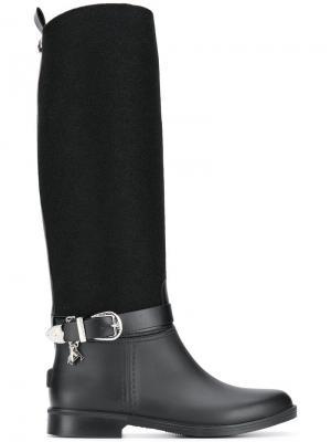 Ботинки с пряжкой сбоку Trussardi Jeans. Цвет: черный