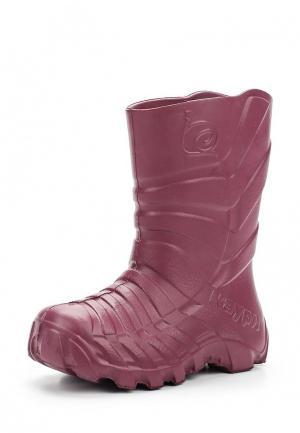 Резиновые сапоги Каури. Цвет: фиолетовый