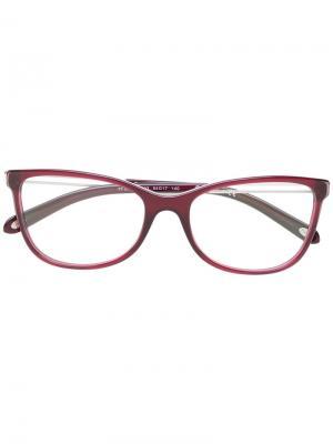 Красные квадратные очки Tiffany & Co Eyewear. Цвет: розовый