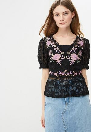 Блуза Topshop. Цвет: черный