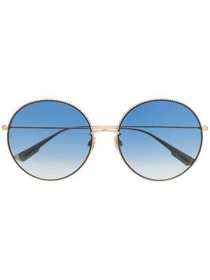 Солнцезащитные очки DiorSociety2F в круглой оправе Dior Eyewear. Цвет: золотистый