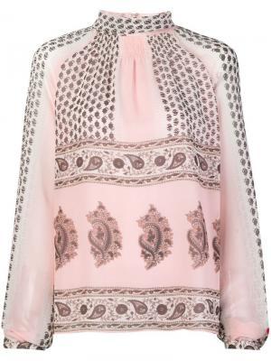 Printed high neck blouse Giambattista Valli. Цвет: розовый