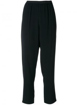 Строгие укороченные брюки I'M Isola Marras. Цвет: черный