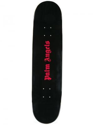 Скейтборд с принтом-логотипом Palm Angels. Цвет: черный