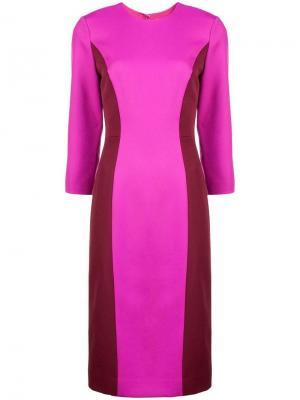 Платье в стиле колор-блок Milly. Цвет: розовый