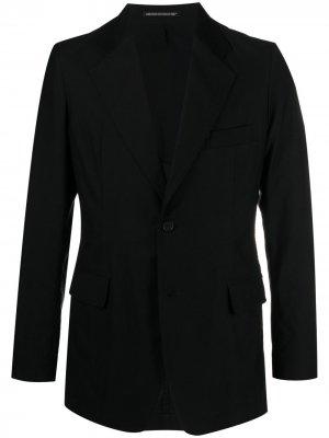 Однобортный пиджак Yohji Yamamoto. Цвет: черный