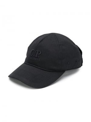 TEEN logo embroidered cap Cp Company Kids. Цвет: черный