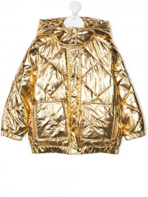 Metallic padded coat Sonia Rykiel. Цвет: золотистый
