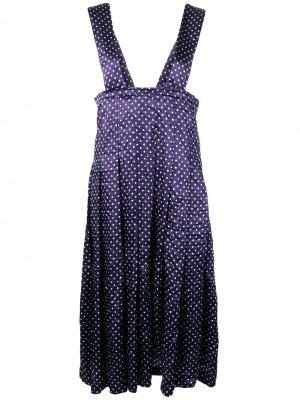 Плиссированное платье-сарафан Comme Des Garçons. Цвет: синий
