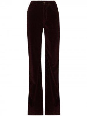 Расклешенные вельветовые брюки Etro. Цвет: красный