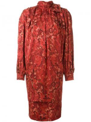 Платье с высокой горловиной Nina Ricci Pre-Owned. Цвет: красный