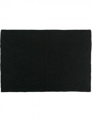 Одеяло в клетку AMI AMALIA. Цвет: черный