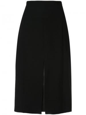 Расклешенная юбка миди Akris. Цвет: черный