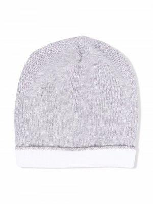 Двухцветная шапка бини Colorichiari. Цвет: серый