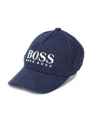 Бейсболка с логотипом BOSS Kidswear. Цвет: синий