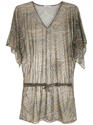 Пляжное платье с принтом Amir Slama. Цвет: разноцветный