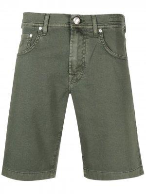 Джинсовые шорты кроя слим Jacob Cohen. Цвет: зеленый