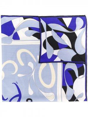 Платок Alex с принтом и логотипом Emilio Pucci. Цвет: синий