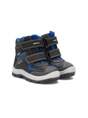 Зимние ботинки Trivor Geox Kids. Цвет: черный