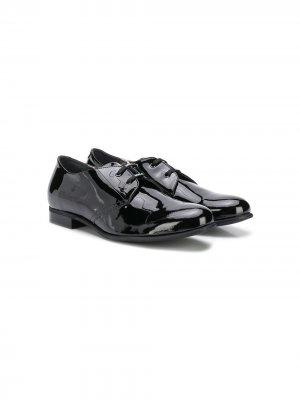 Туфли на шнуровке Monnalisa. Цвет: черный