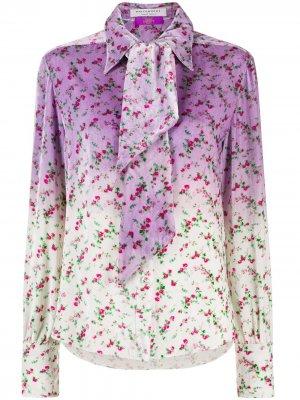 Блузка с цветочным принтом и эффектом омбре Philosophy Di Lorenzo Serafini. Цвет: фиолетовый