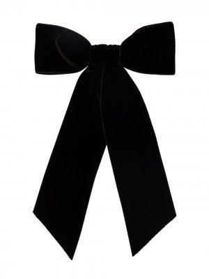 Заколка для волос с бантом Jennifer Behr. Цвет: черный