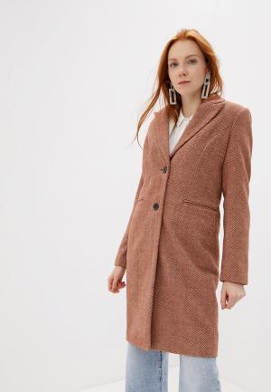 Пальто Vero Moda. Цвет: коричневый