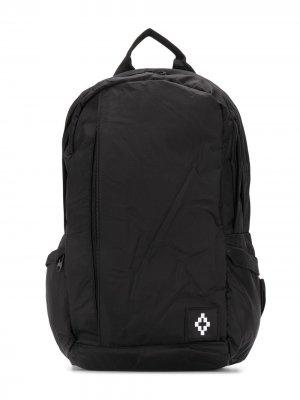 Рюкзак на молнии с логотипом Marcelo Burlon County Of Milan Kids. Цвет: черный