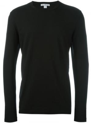 Вязаный свитер James Perse. Цвет: черный