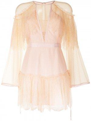 Кружевное платье Mi Amor Alice McCall. Цвет: розовый
