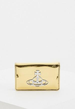 Визитница Vivienne Westwood. Цвет: золотой