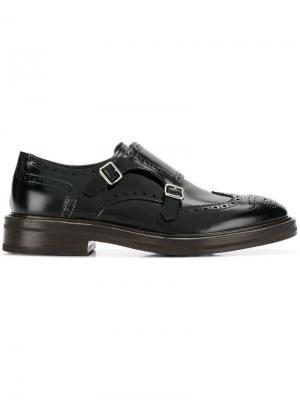 Туфли монки Henderson Baracco. Цвет: черный