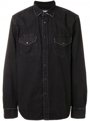 Рубашка с длинными рукавами Diesel. Цвет: черный