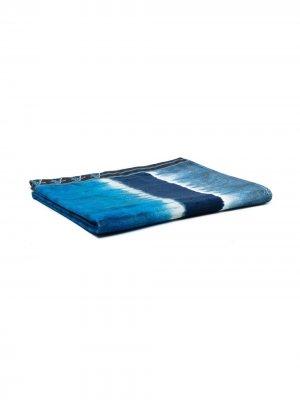 Пляжное полотенце в стиле колор-блок Alberta Ferretti. Цвет: синий