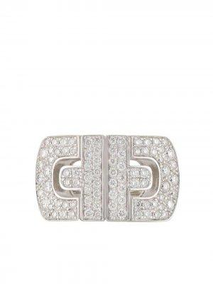 Золотое кольцо pre-owned с бриллиантами Bvlgari. Цвет: белый