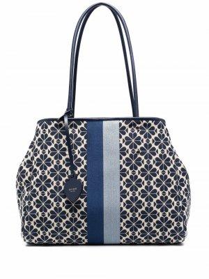 Большая сумка-тоут с цветочным узором Kate Spade. Цвет: синий