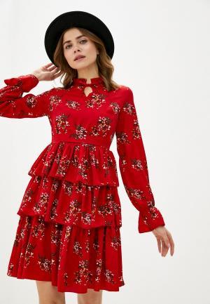 Платье TrendyAngel. Цвет: красный