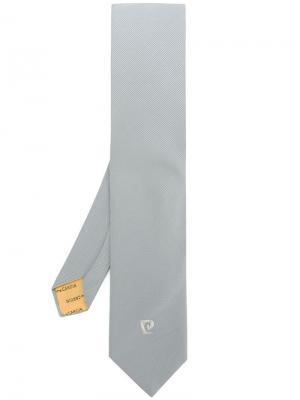Галстук с вышивкой Pierre Cardin Pre-Owned. Цвет: серый