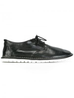 Туфли на шнуровке Marsèll. Цвет: черный