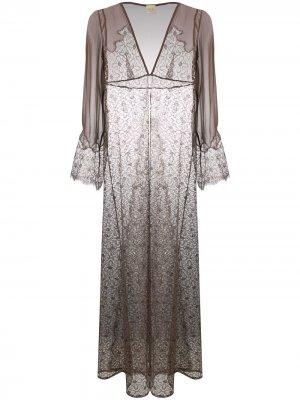 Длинный халат Rosemoor Street Myla. Цвет: коричневый