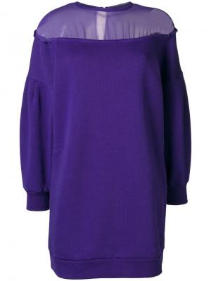 Платье-свитер 8pm. Цвет: фиолетовый