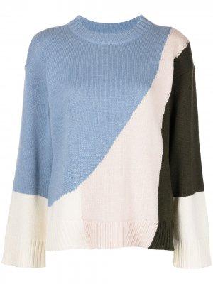 Кашемировый свитер Shasta в стиле колор-блок Apiece Apart. Цвет: разноцветный