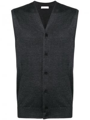 V-neck vest Cruciani. Цвет: серый