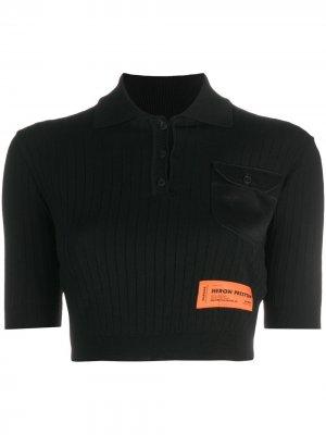 Рубашка поло с короткими рукавами Heron Preston. Цвет: 1000 - черный