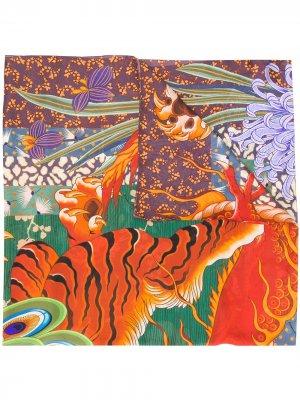 Платок с принтом Dsquared2. Цвет: оранжевый