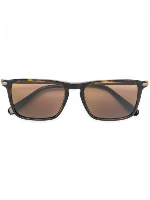 Square frame sunglasses Brioni. Цвет: коричневый