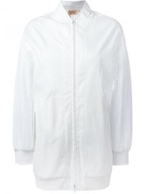Сетчатая спортивная куртка Nº21. Цвет: белый